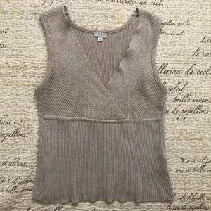 Vintage Tan Knit Ribbed Tank